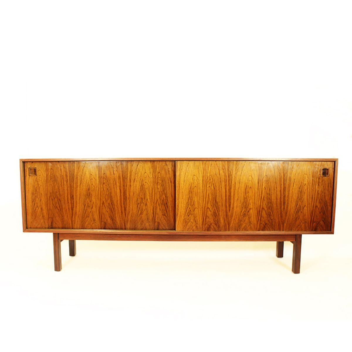 d nisches palisander sideboard mit schiebet ren von omann. Black Bedroom Furniture Sets. Home Design Ideas