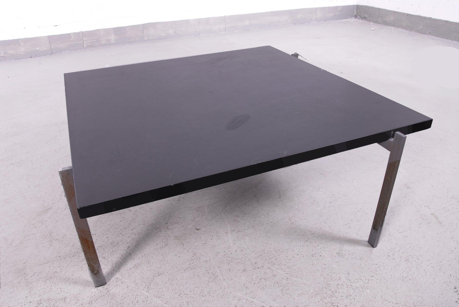 table basse pk61 vintage avec plateau en ardoise noire par poul kjaerholm en vente sur pamono. Black Bedroom Furniture Sets. Home Design Ideas