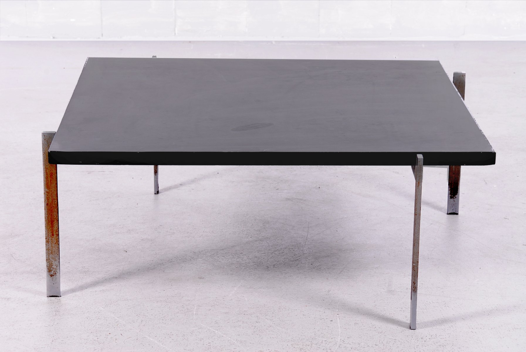Vintage PK61 Coffee Table with Black Slate Top by Poul Kjaerholm