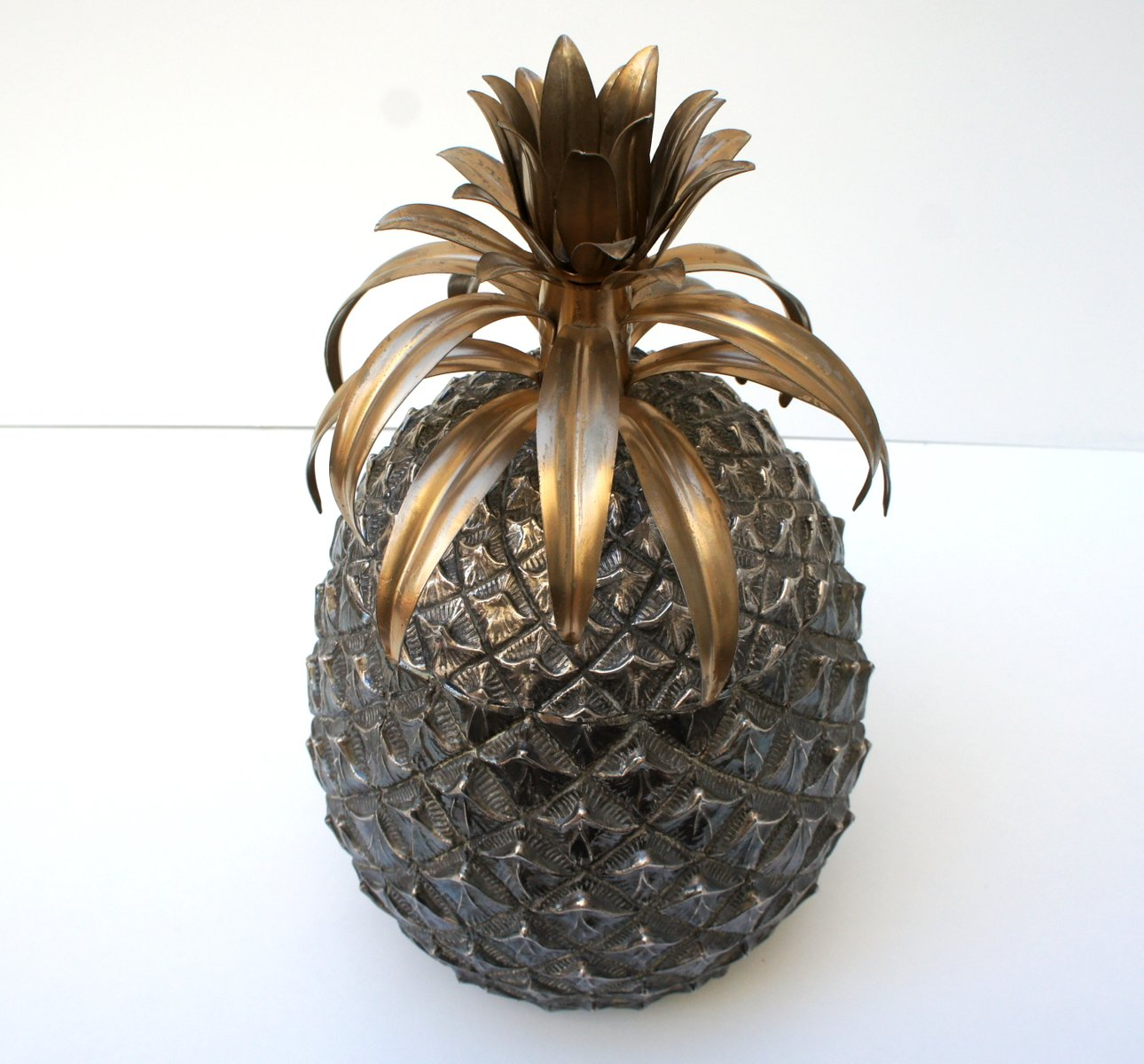 Italian Silver Pineapple Ice Bucket by Mauro Manetti for Fonderia d'Arte,  1960s for sale at Pamono