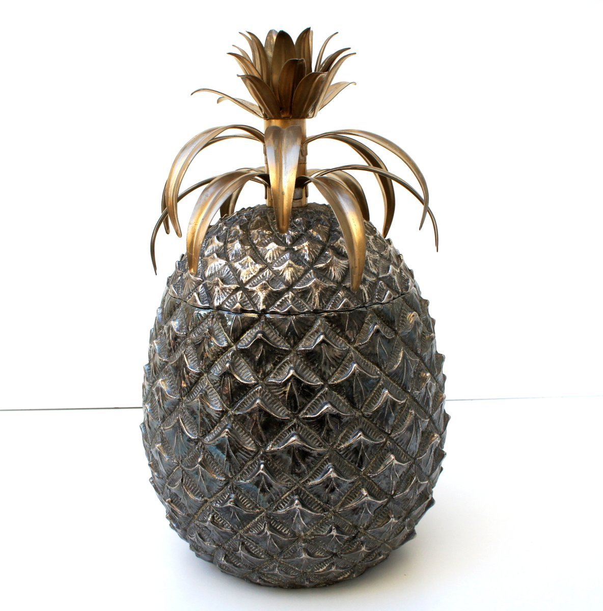 seau glace ananas en argent par mauro manetti pour. Black Bedroom Furniture Sets. Home Design Ideas