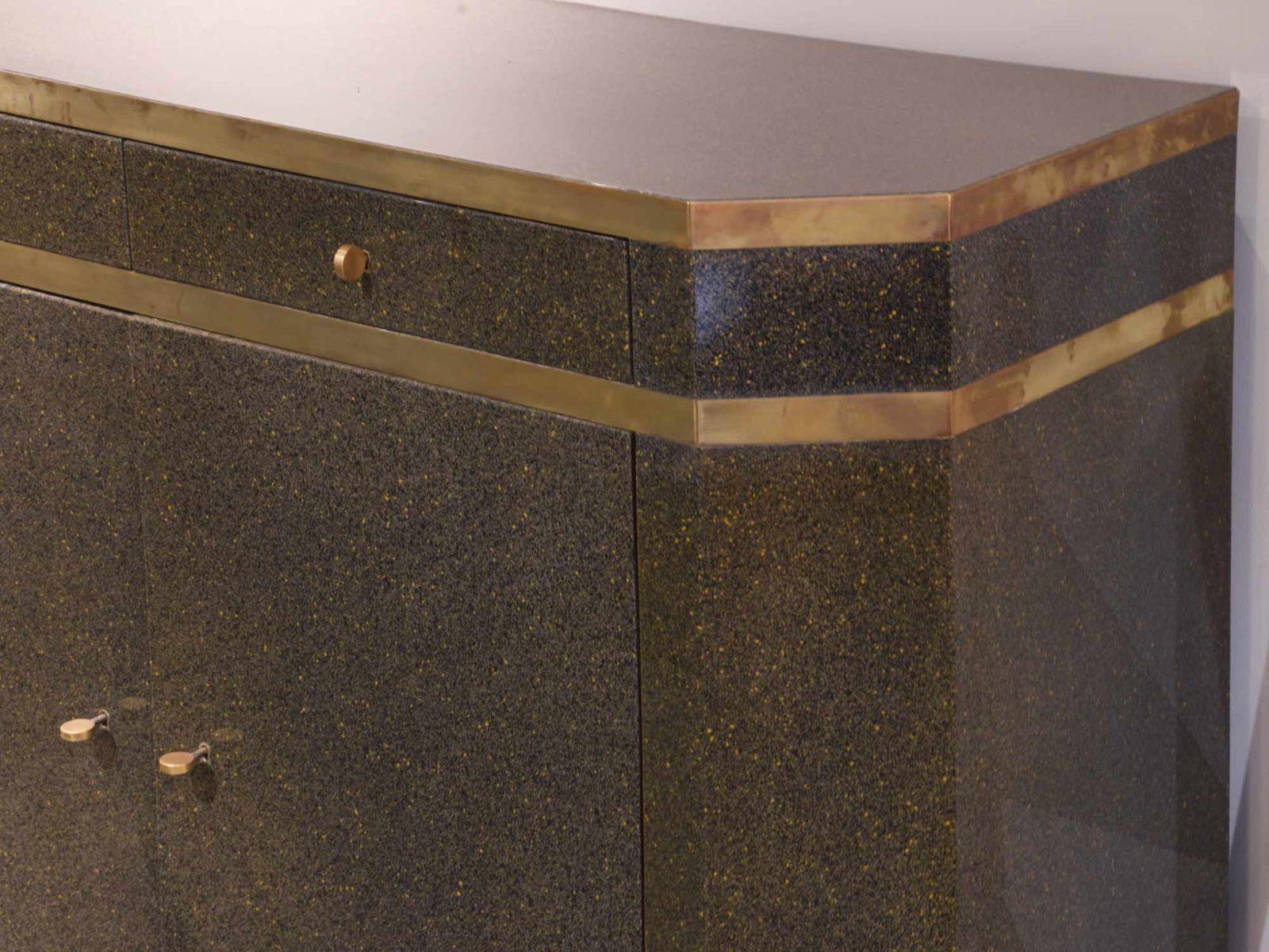 enfilade art d co en bois laqu par jean claude mahey en vente sur pamono. Black Bedroom Furniture Sets. Home Design Ideas