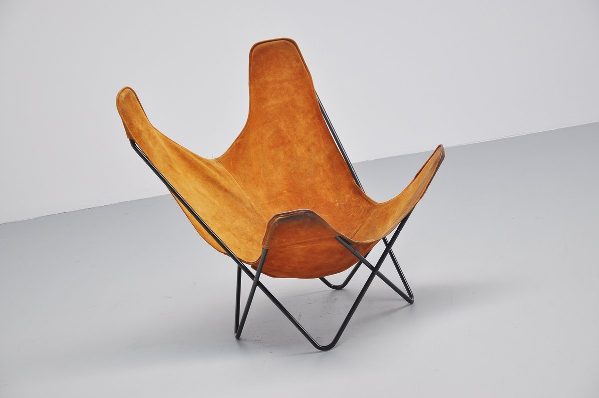 butterfly chair by jorge hardoy ferrari for knoll 1970s. Black Bedroom Furniture Sets. Home Design Ideas