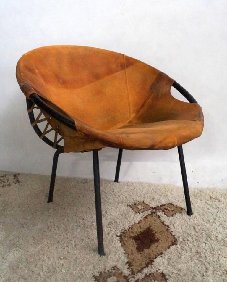 vintage st hle mit ledersitz von lusch erzeugnis 3er set. Black Bedroom Furniture Sets. Home Design Ideas