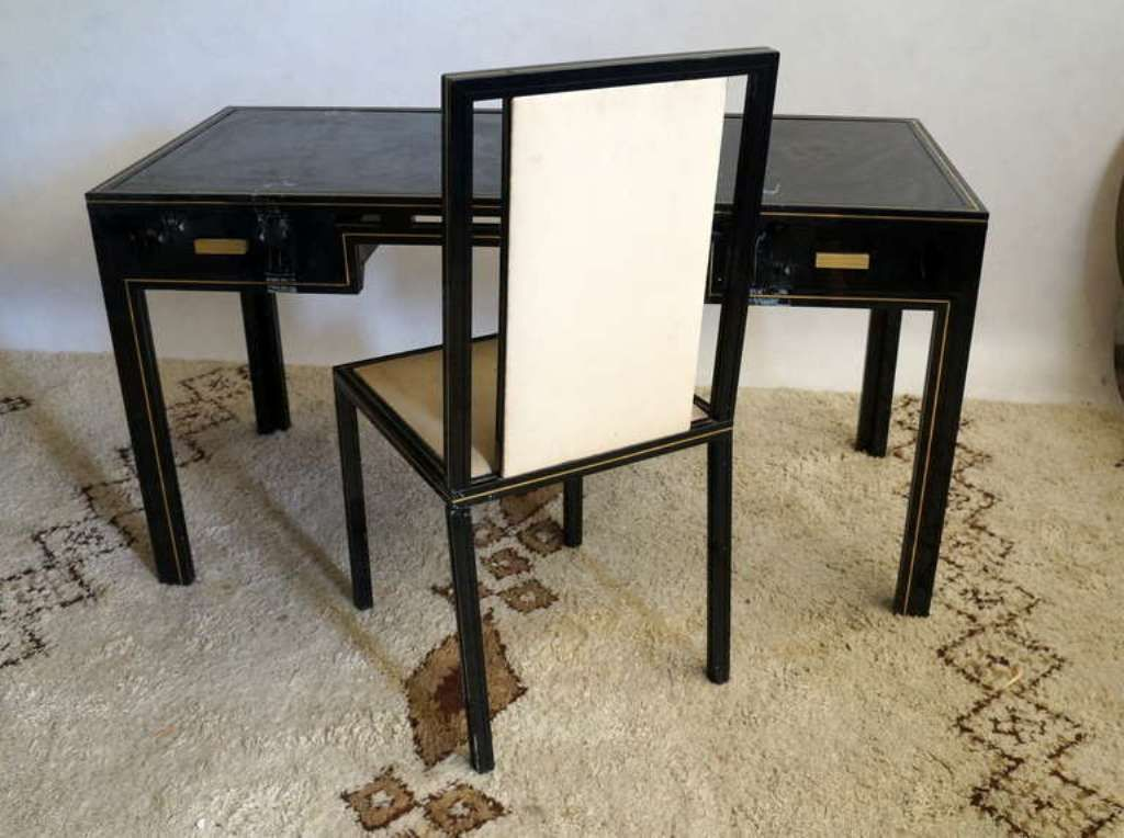 schreibtisch mit stuhl lterer schreibtisch mit stuhl eur 410 00 picclick de tschechischer mid. Black Bedroom Furniture Sets. Home Design Ideas