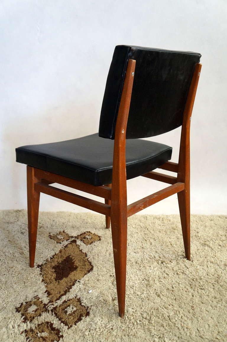 schwarze rote und braune st hle 1950er 10er set bei pamono kaufen. Black Bedroom Furniture Sets. Home Design Ideas