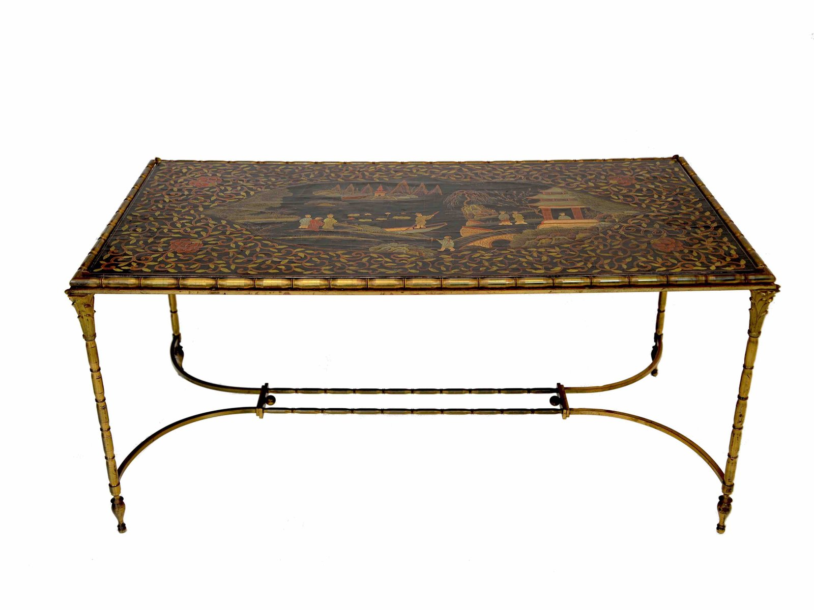 Chinoiserie Coffee Table in Bronze from Maison Bagues for sale at