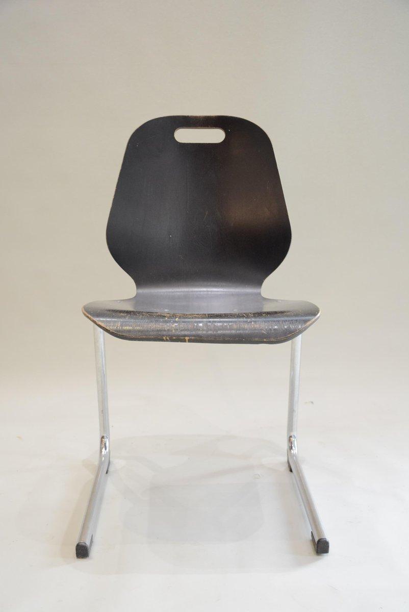 schwarze st hle 1970er 6er set bei pamono kaufen. Black Bedroom Furniture Sets. Home Design Ideas