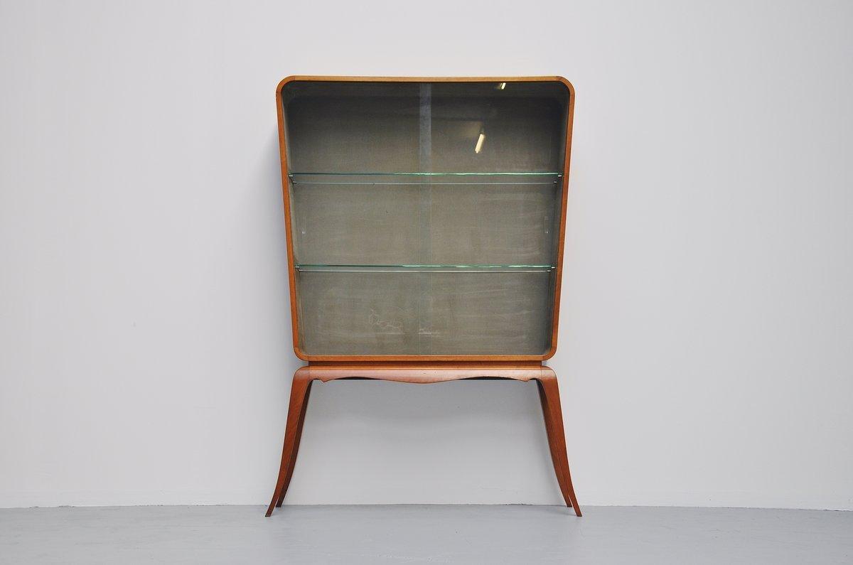 meuble vitrine vintage en noyer par paolo buffa italie. Black Bedroom Furniture Sets. Home Design Ideas