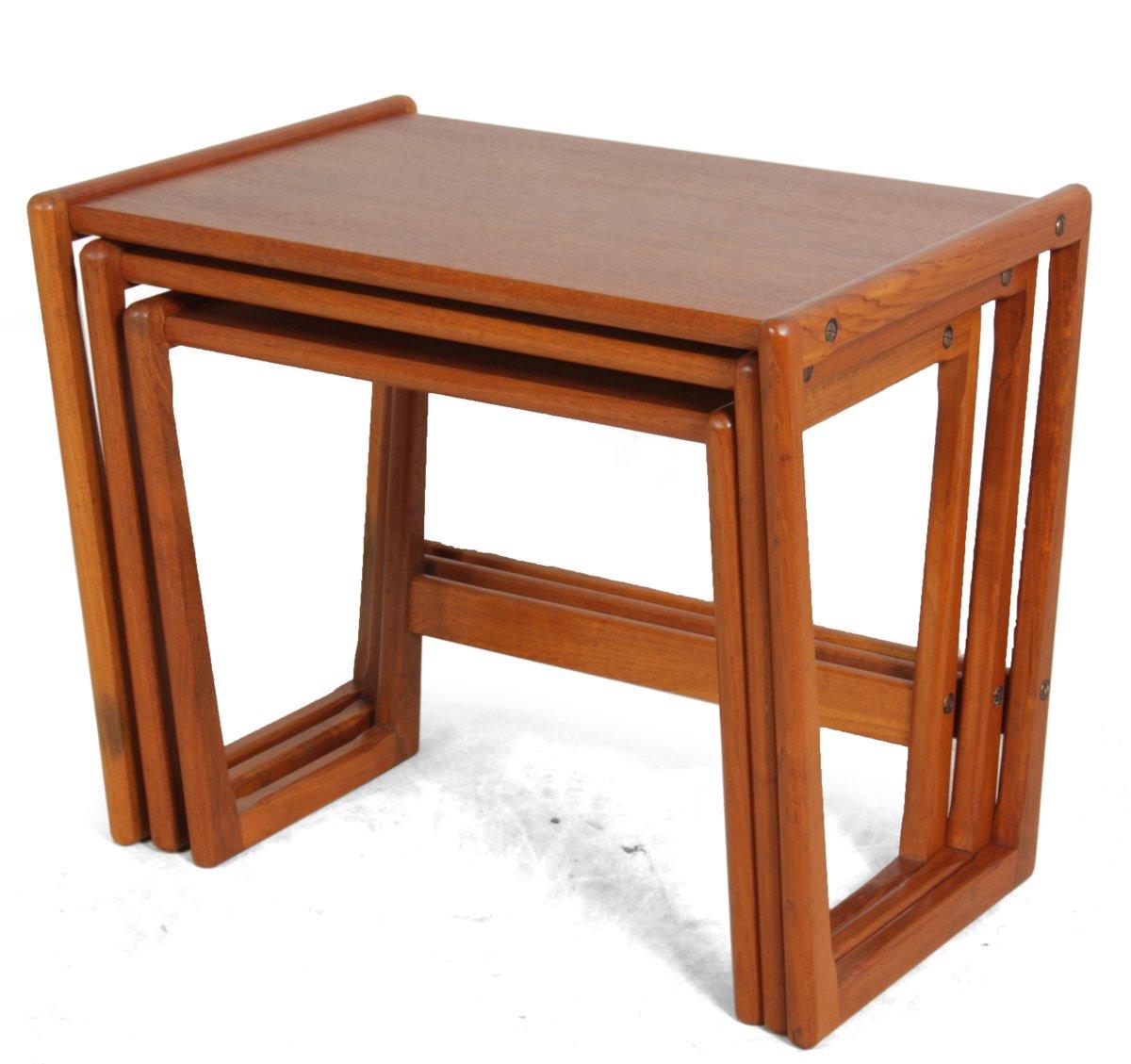 danish kubus nesting tables by georg jensen for tonder mobelvaerk 1960s