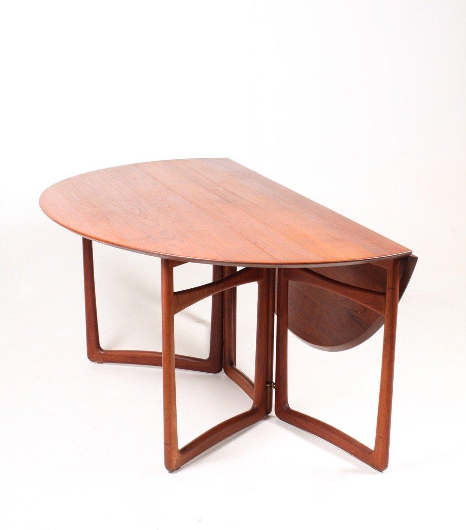gateleg table by peter hvidt u0026 orla for france u0026 sn 1950s