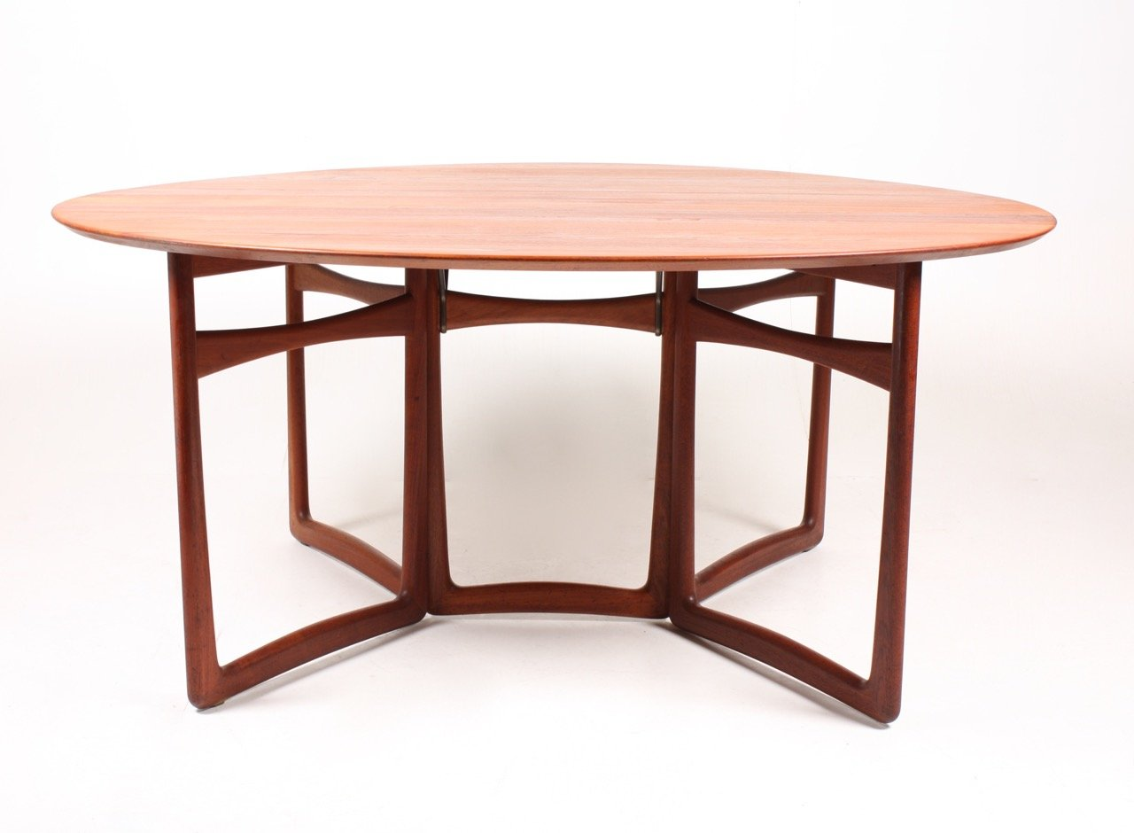 Elegant Gateleg Table By Peter Hvidt U0026 Orla Mølgaard Nielsen For France U0026 Søn, 1950s