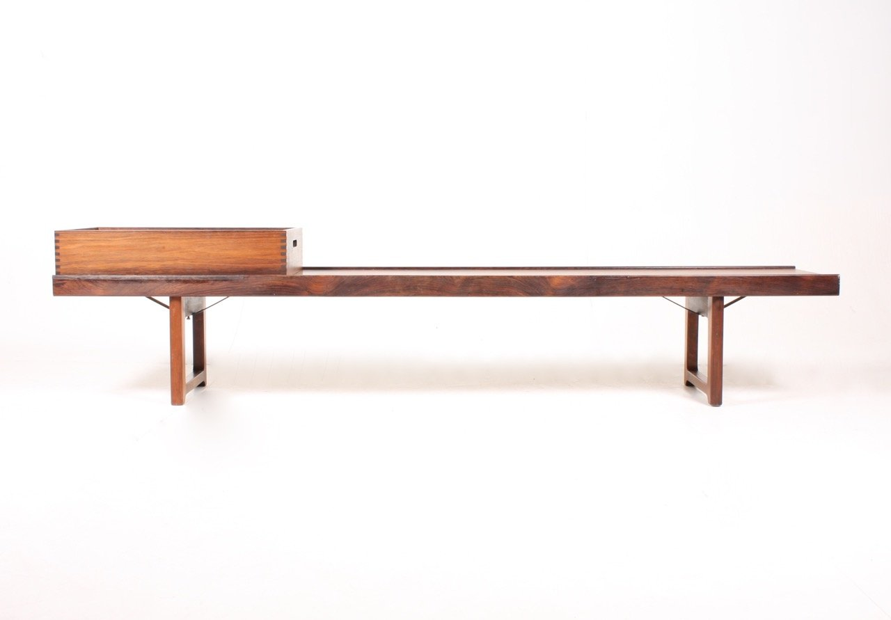 Mid Century Norwegian Bench With Flower Box By Torbj Rn Afdal For Bruksbo For Sale At Pamono