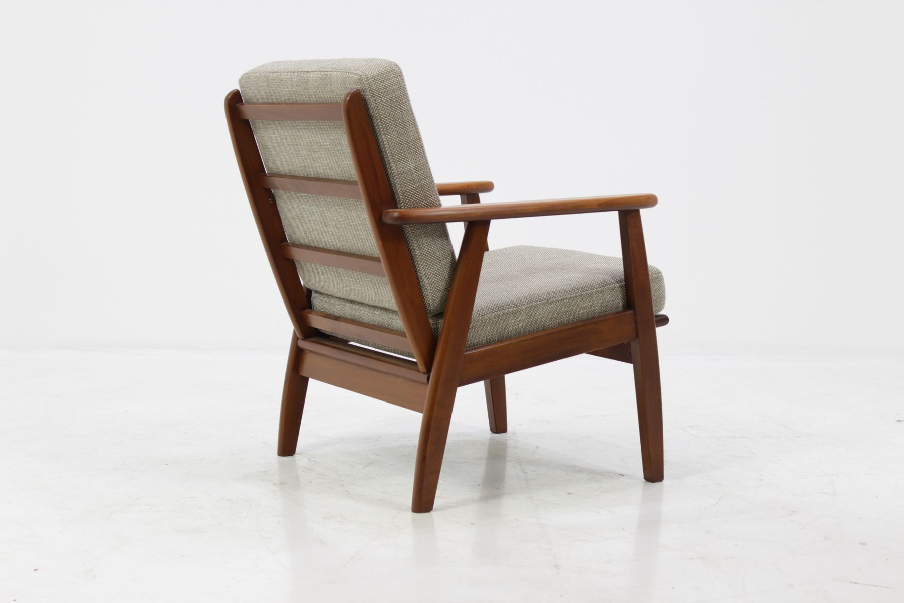 Danish Teak Easy Chair in Grey 1960s for sale at Pamono