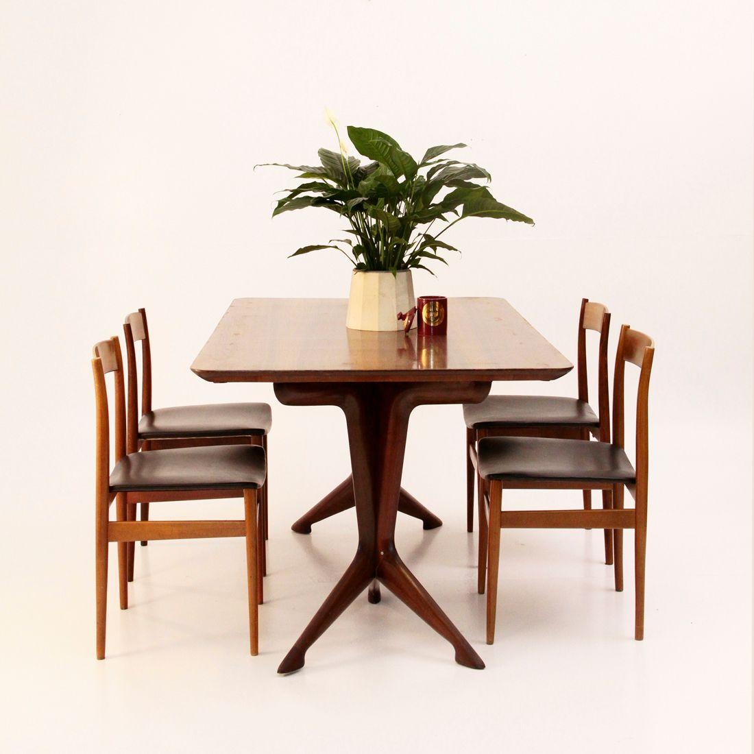 Chaises de salle manger mid century italie 1960s set for Salle a manger 1960