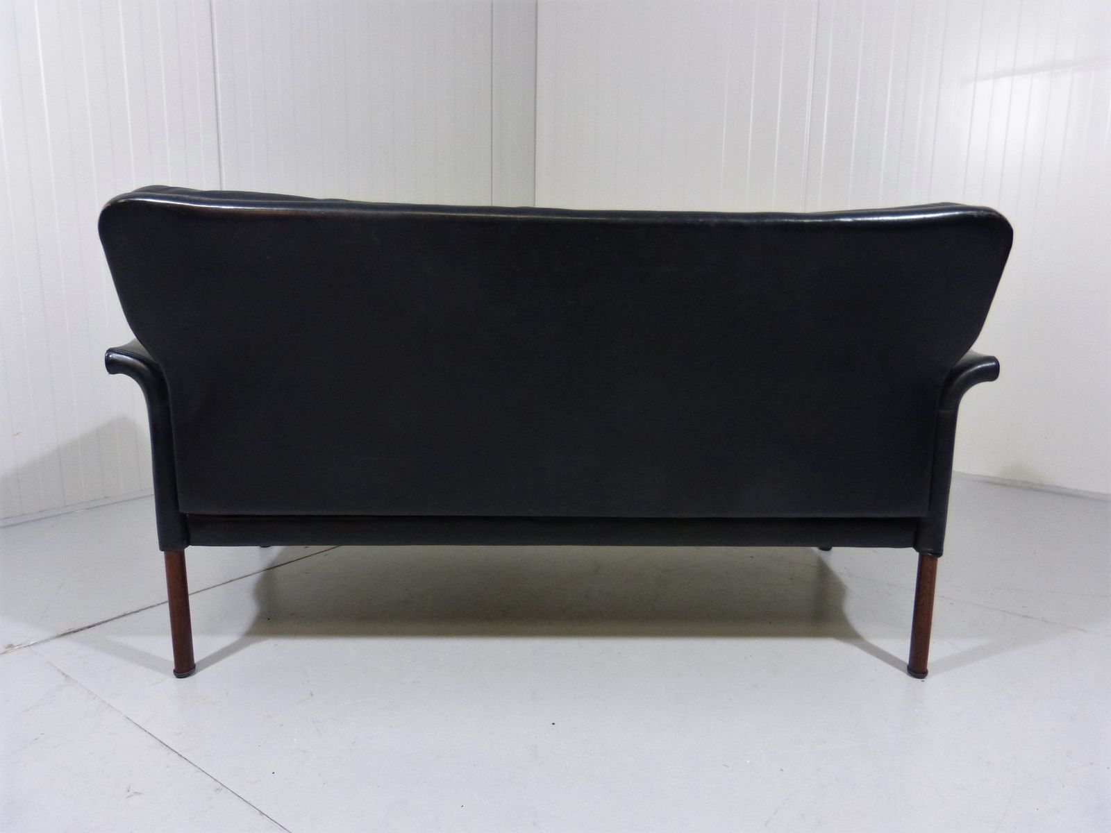 Leather Amp Rosewood Sofa By Hans Olsen 1960s For Sale At