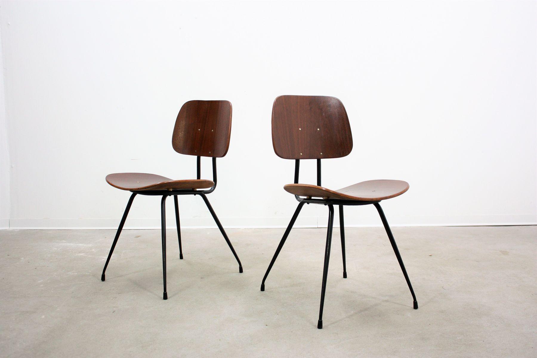 Chaises de salle manger mid century par gastone rinaldi for Set de salle a manger