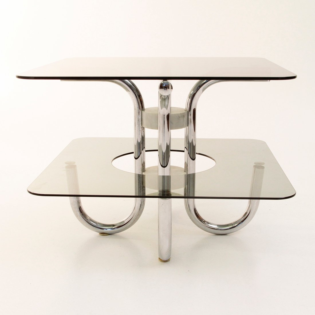 double table basse avec plateau en verre italie 1970s en vente sur pamono. Black Bedroom Furniture Sets. Home Design Ideas