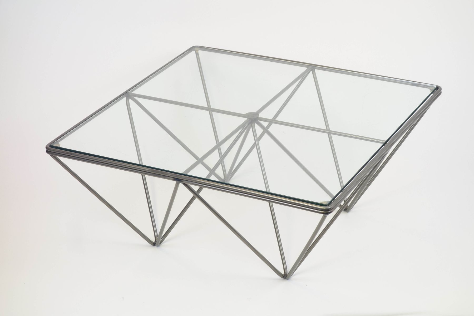 Vintage Geometric Italian Coffee Table 1980s for sale at Pamono