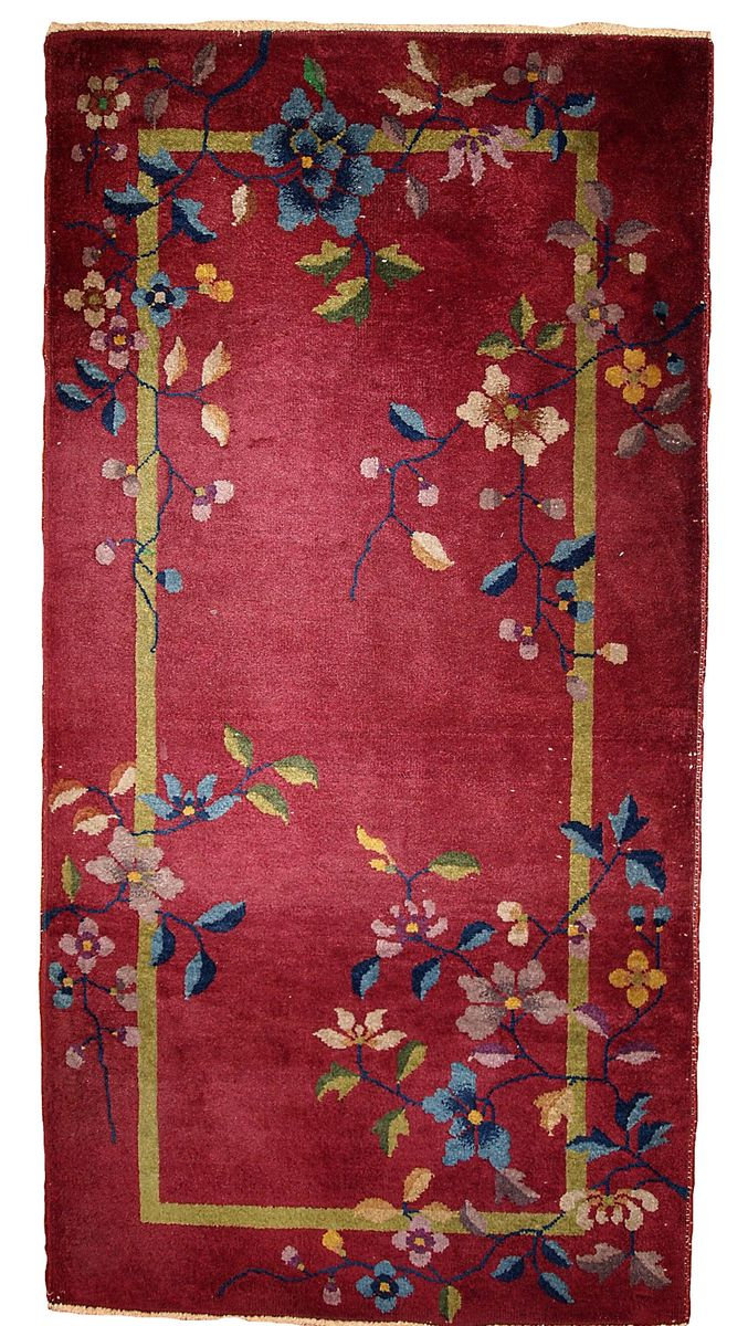 Vintage Chinese Art Deco Handmade Rug, 1920s For Sale At Pamono