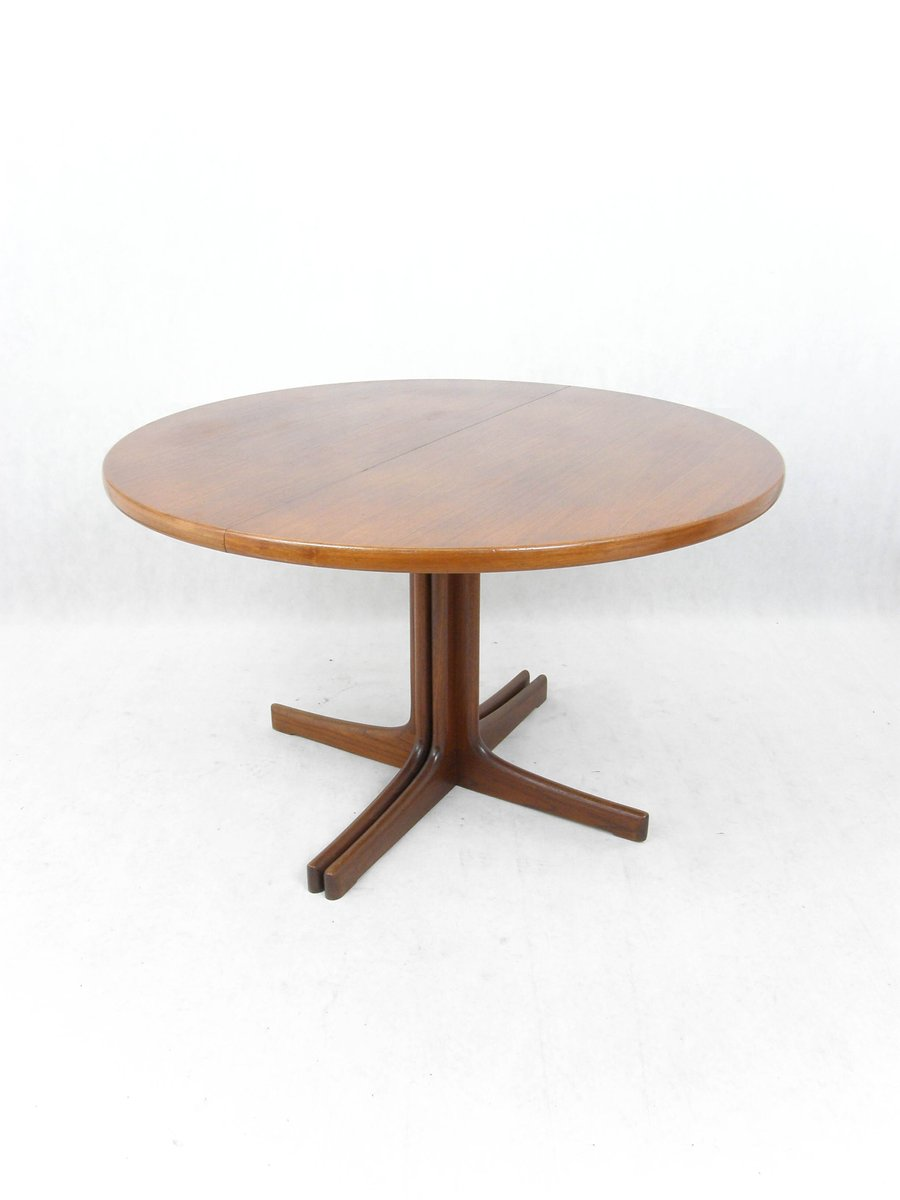 Danish Extendable Round Table In Teak, 1960s