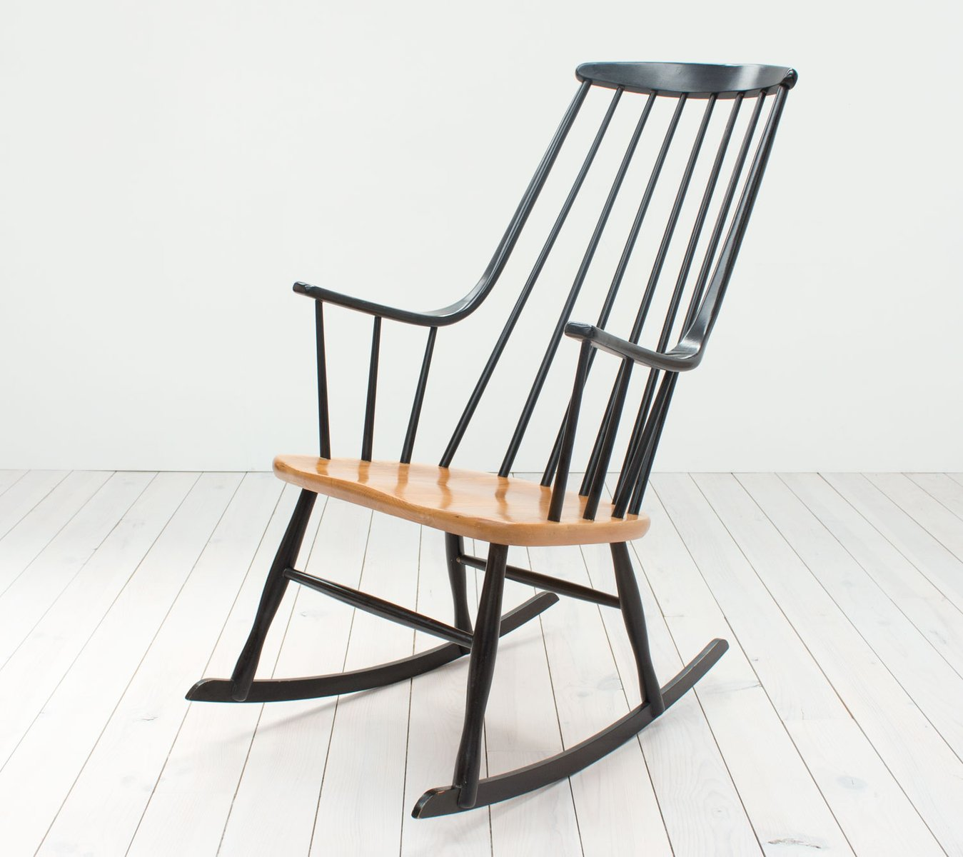 Mid Century Grandessa Beech Rocking Chair By Lena Larsson For Nesto