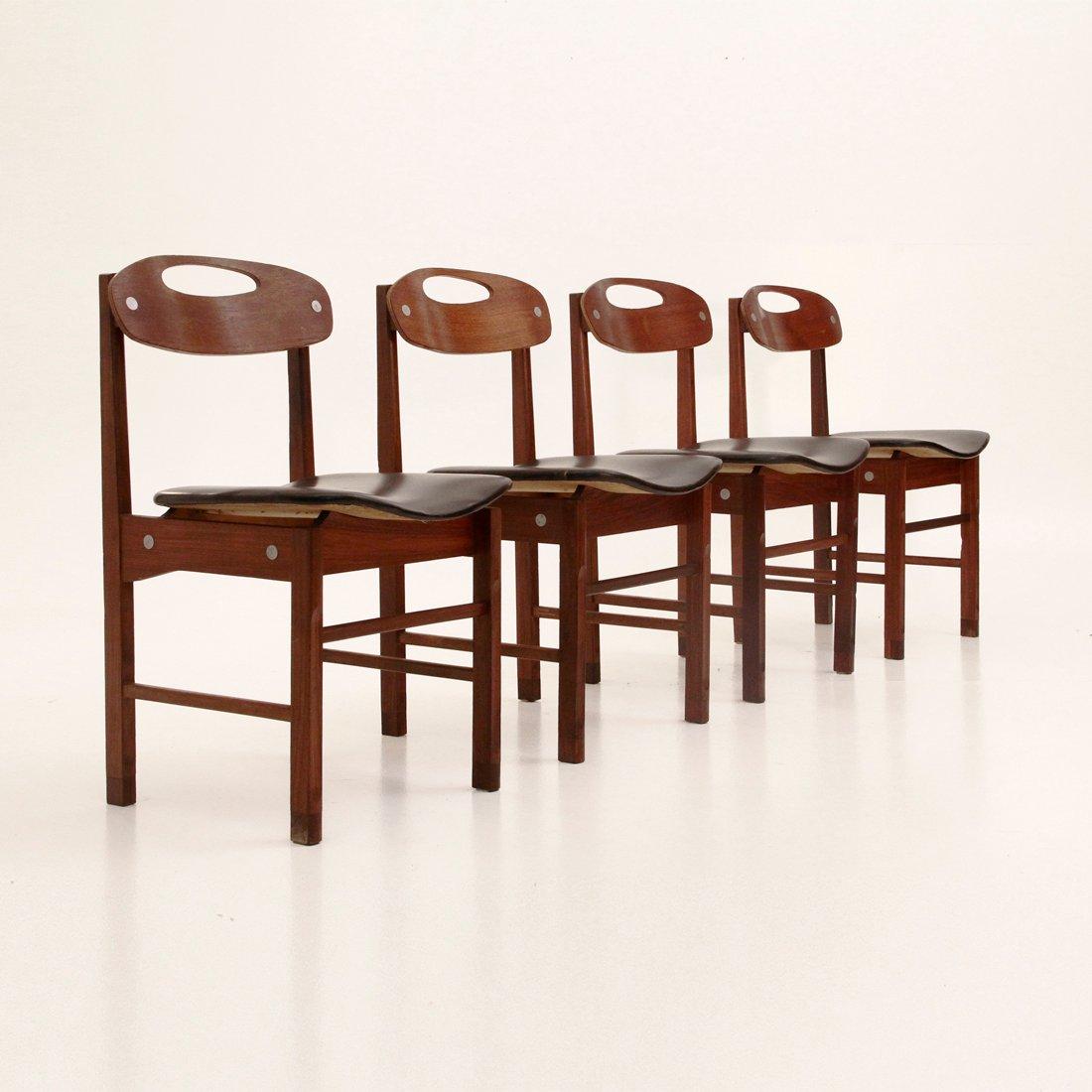 chaises de salon par pillinini italie 1960s set de 4 en vente sur pamono. Black Bedroom Furniture Sets. Home Design Ideas