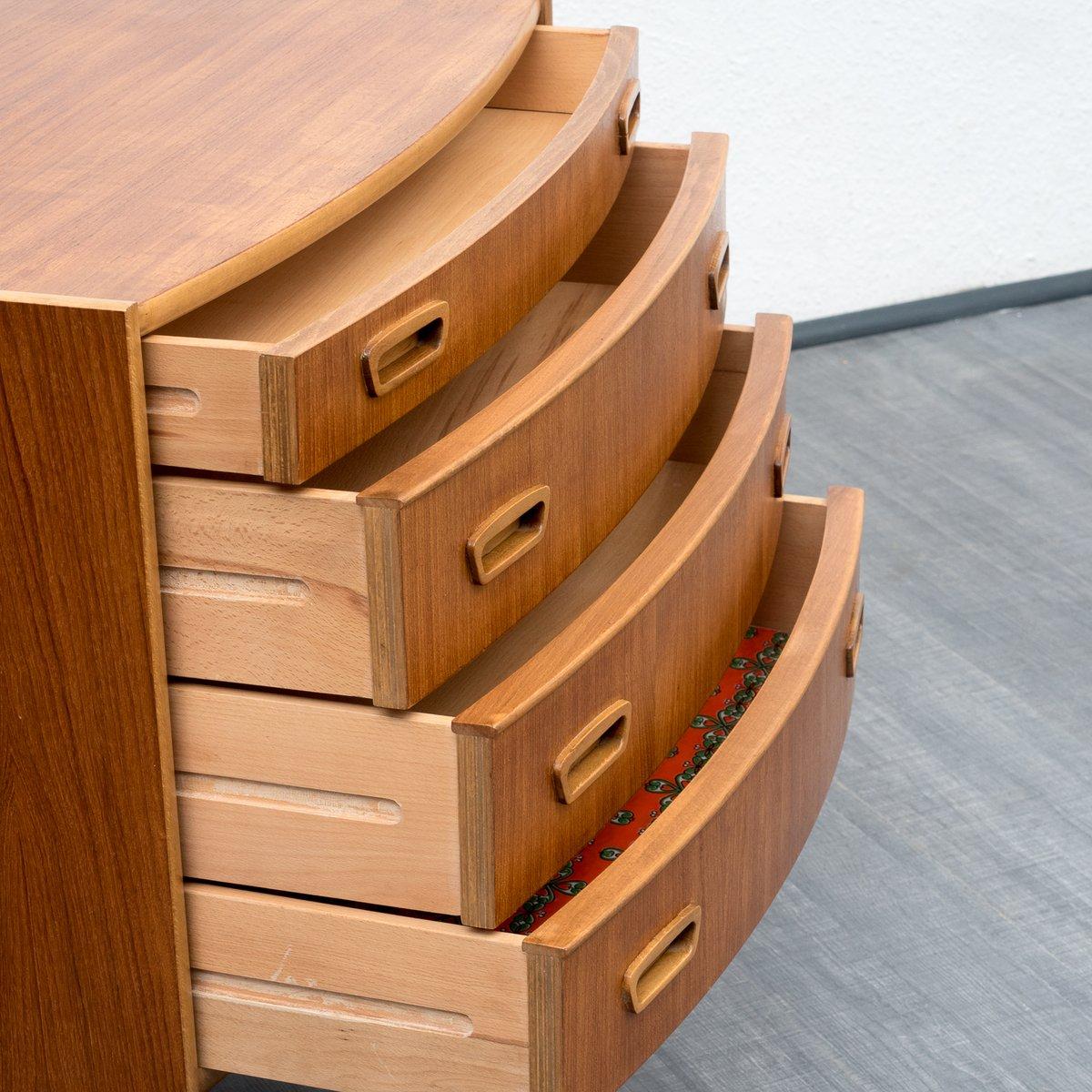 petit meuble de rangement style scandinave en teck 1960s. Black Bedroom Furniture Sets. Home Design Ideas