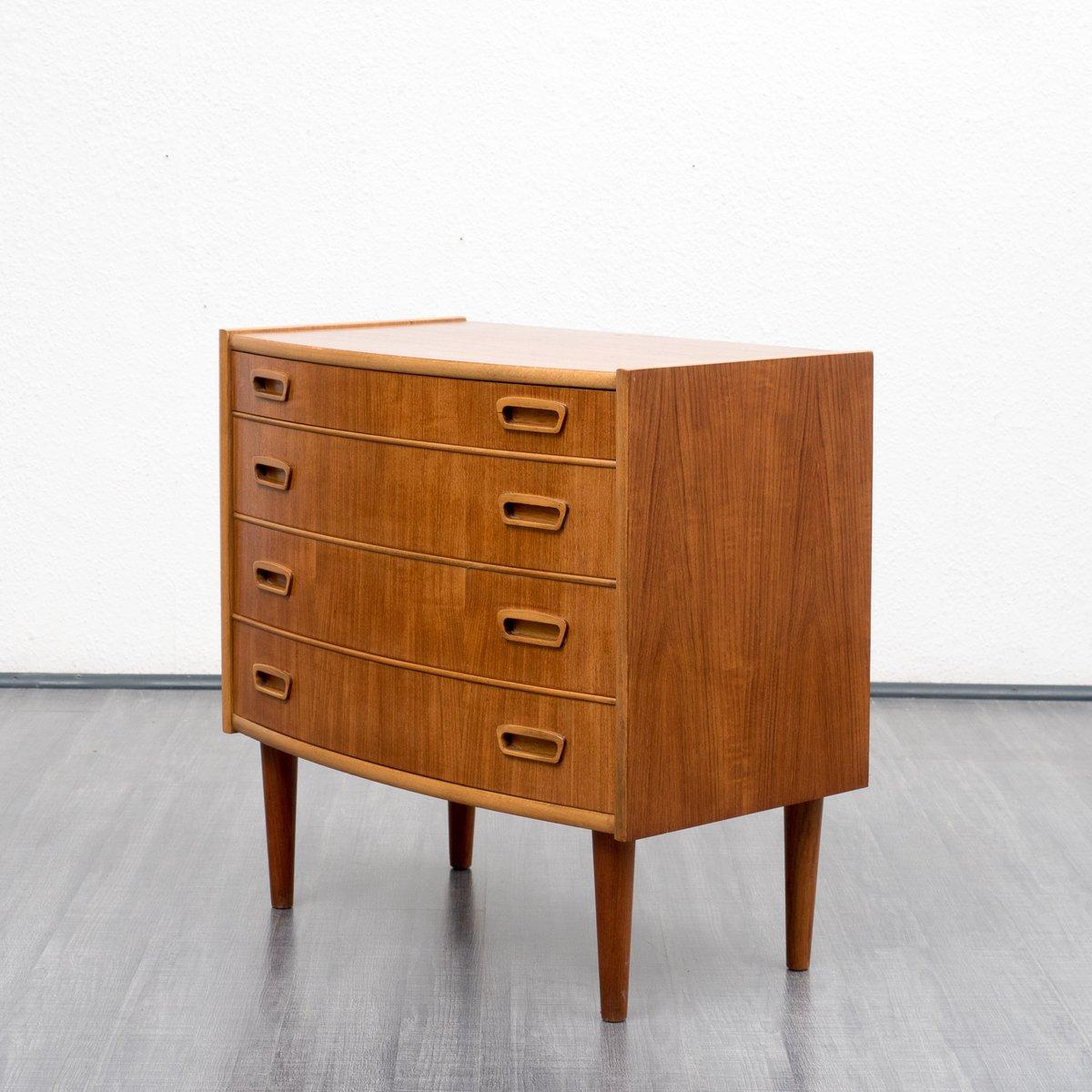 Petit meuble de rangement style scandinave en teck 1960s for Petit meuble rangement