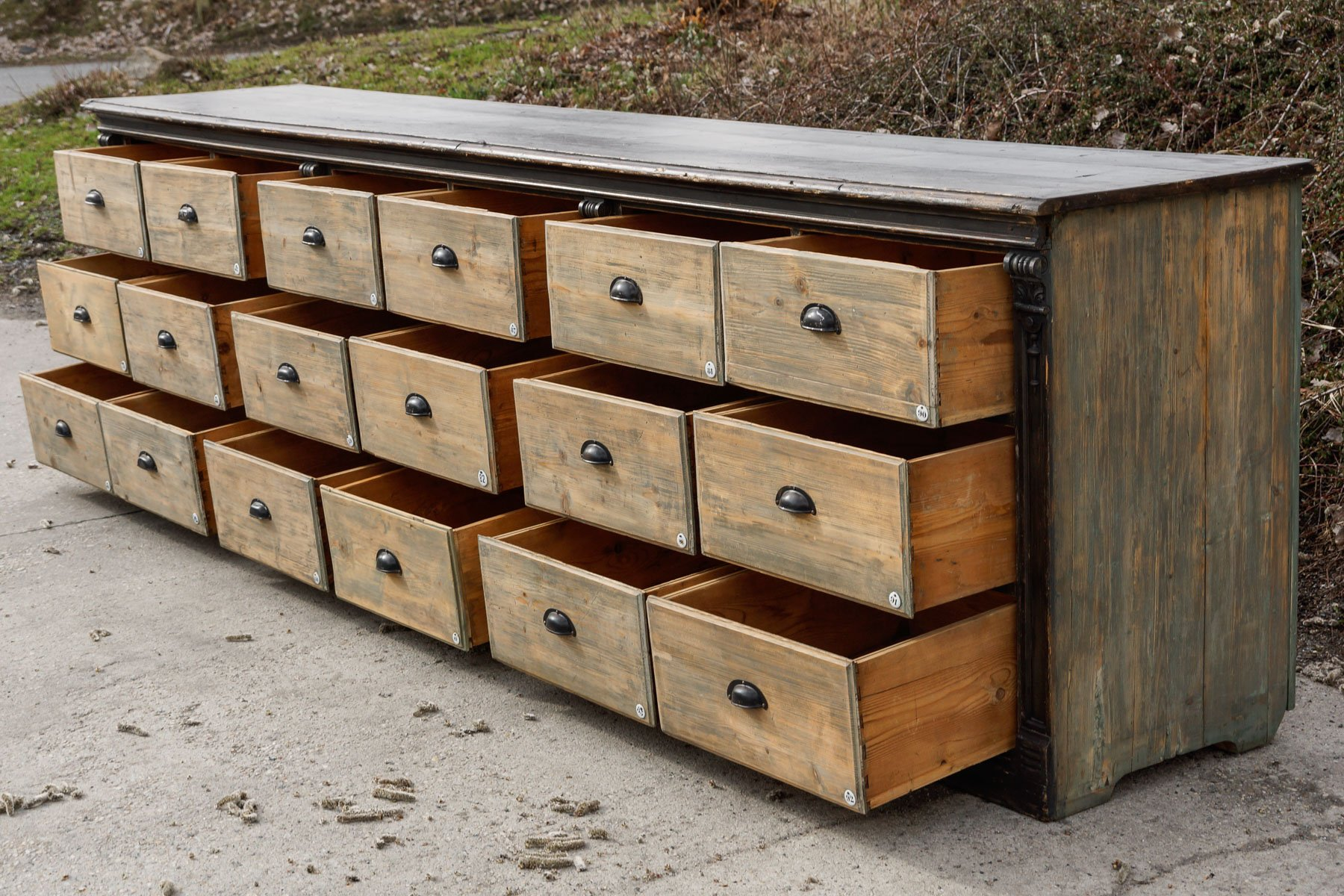 Wooden Chest Of Drawers: Large Antique Wooden Chest Of Drawers, 1890s For Sale At