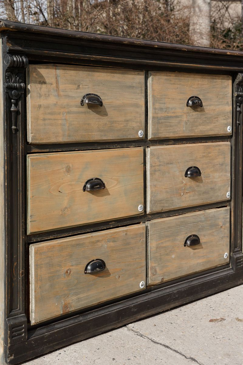 Large antique wooden chest of drawers s for sale at