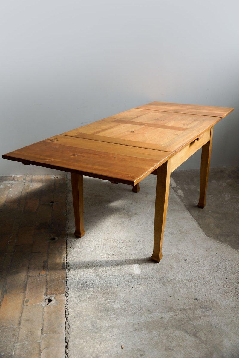 Table de salle manger rallonge art nouveau en bois - Table de salle a manger en chene avec rallonge ...
