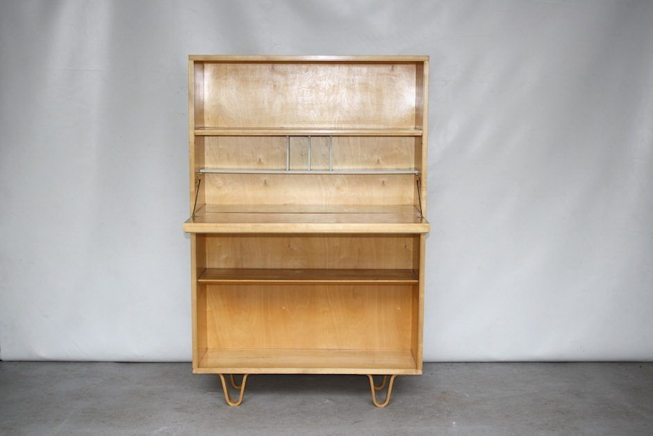 vintage model bb04 birch cabinet or secretaire by cees braakman for pastoe for sale at pamono. Black Bedroom Furniture Sets. Home Design Ideas