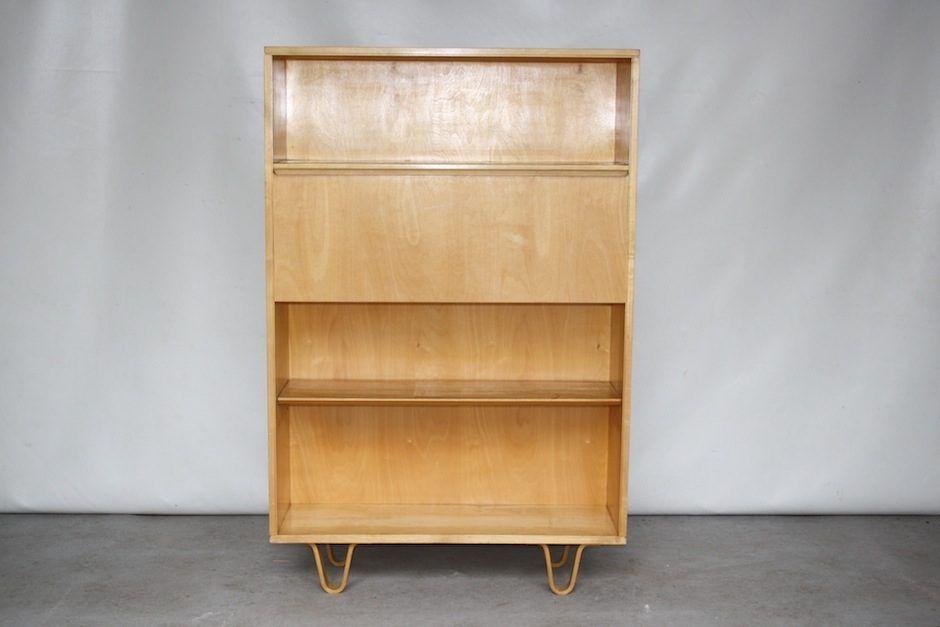 vintage model bb04 birch cabinet or secretaire by cees. Black Bedroom Furniture Sets. Home Design Ideas