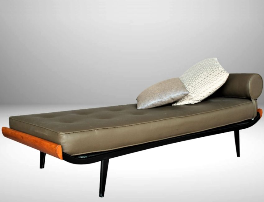 cleopatra daybed with mattress by dick cordemeijer for auping 1954 for sale at pamono. Black Bedroom Furniture Sets. Home Design Ideas