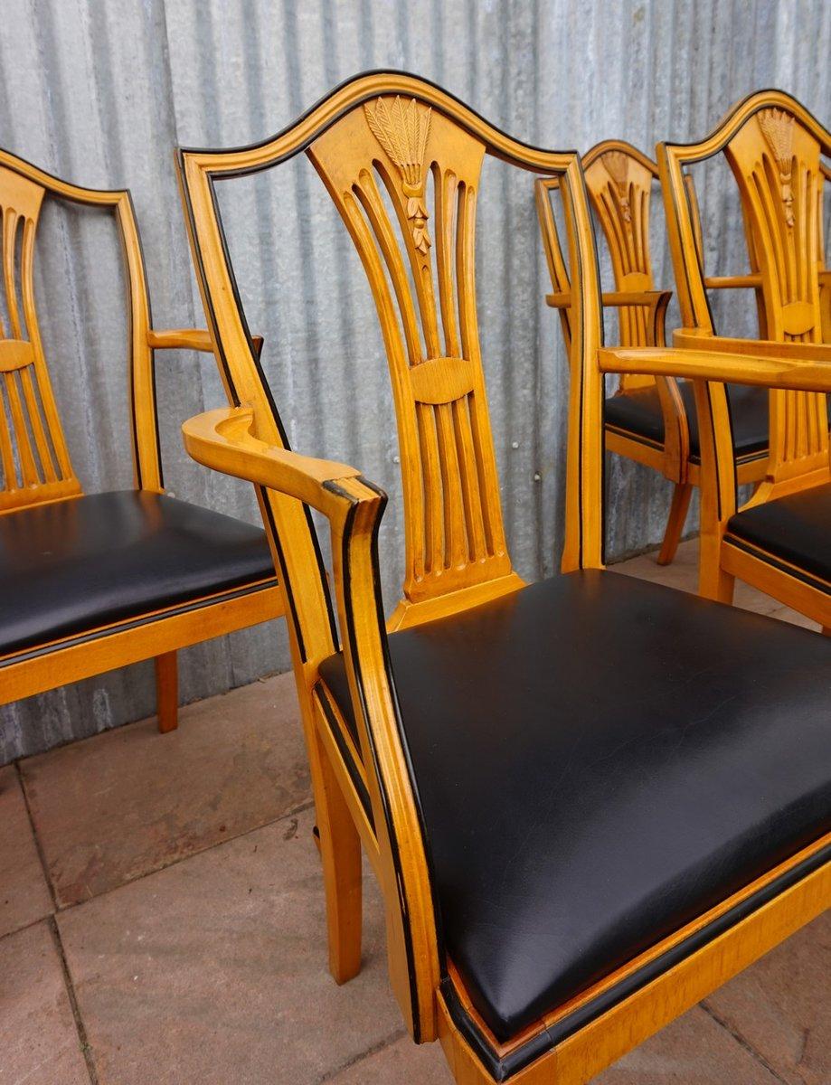 Spanische Vintage Esszimmer Armlehnstühle Von Valenti, 6er Set