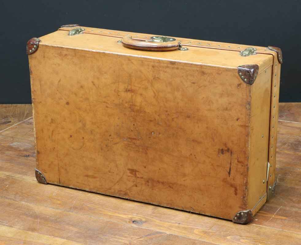 Vintage Leather Suitcase from Louis Vuitton, 1930s for sale at Pamono