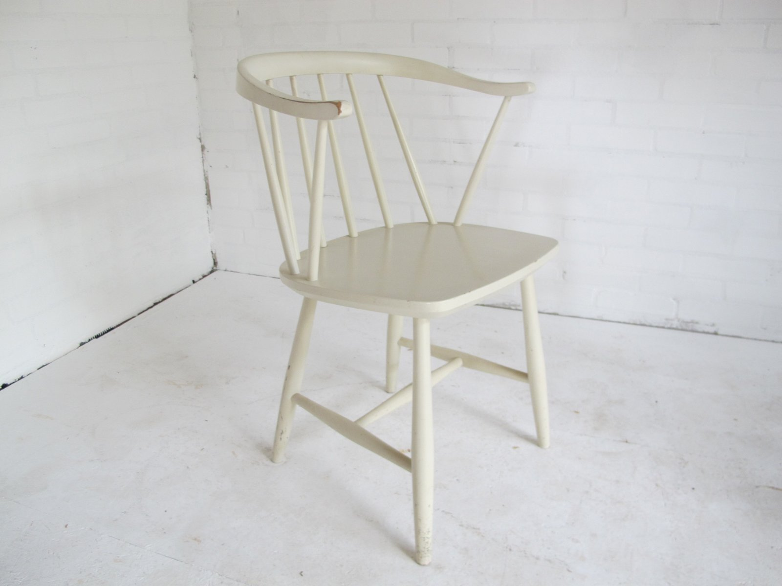 Vintage Spindle Back Side Chair by Yngve Ekström 1950s for sale