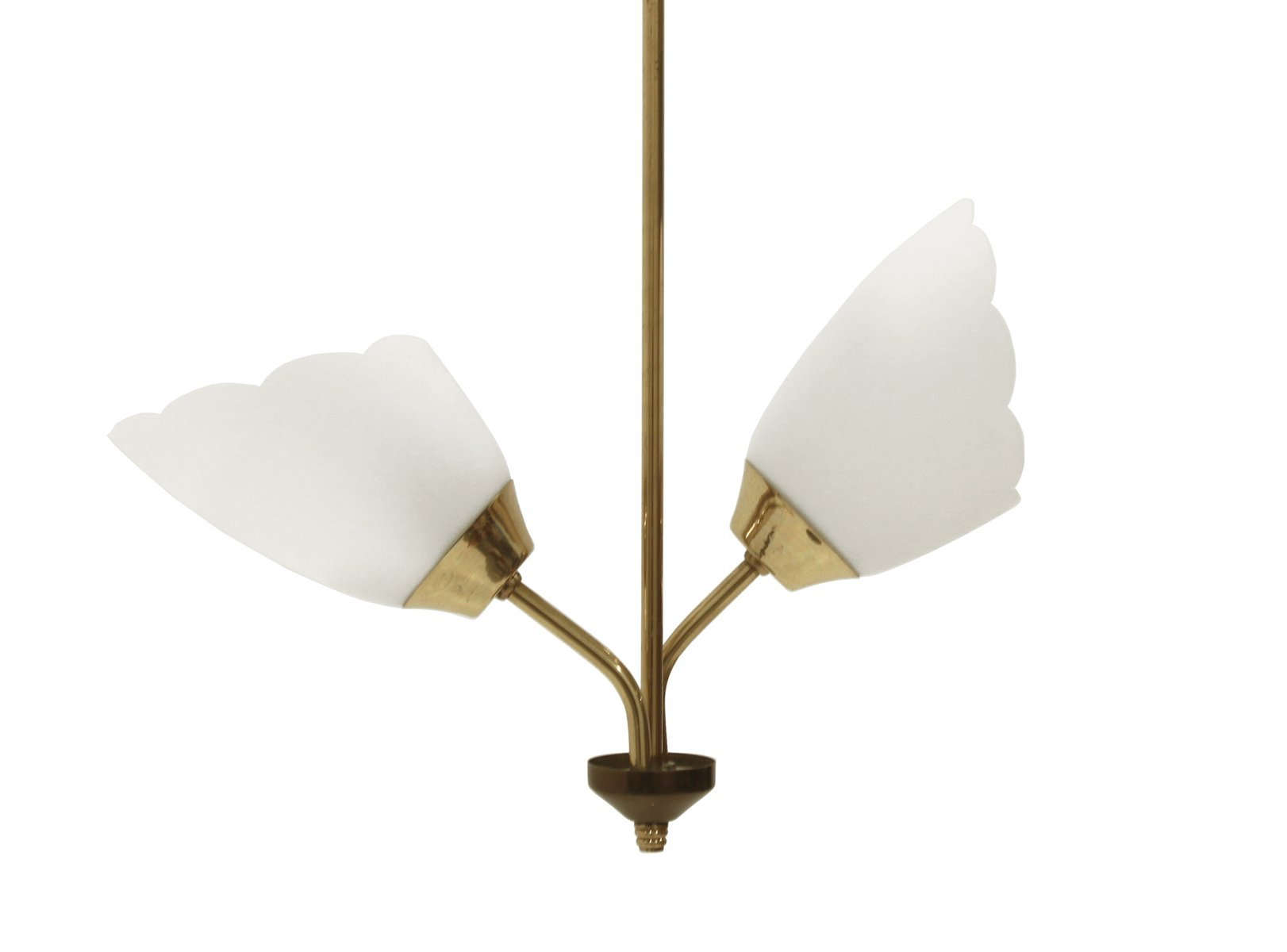 Mid century twin shade ceiling lamp for sale at pamono for Mid century ceiling lamp