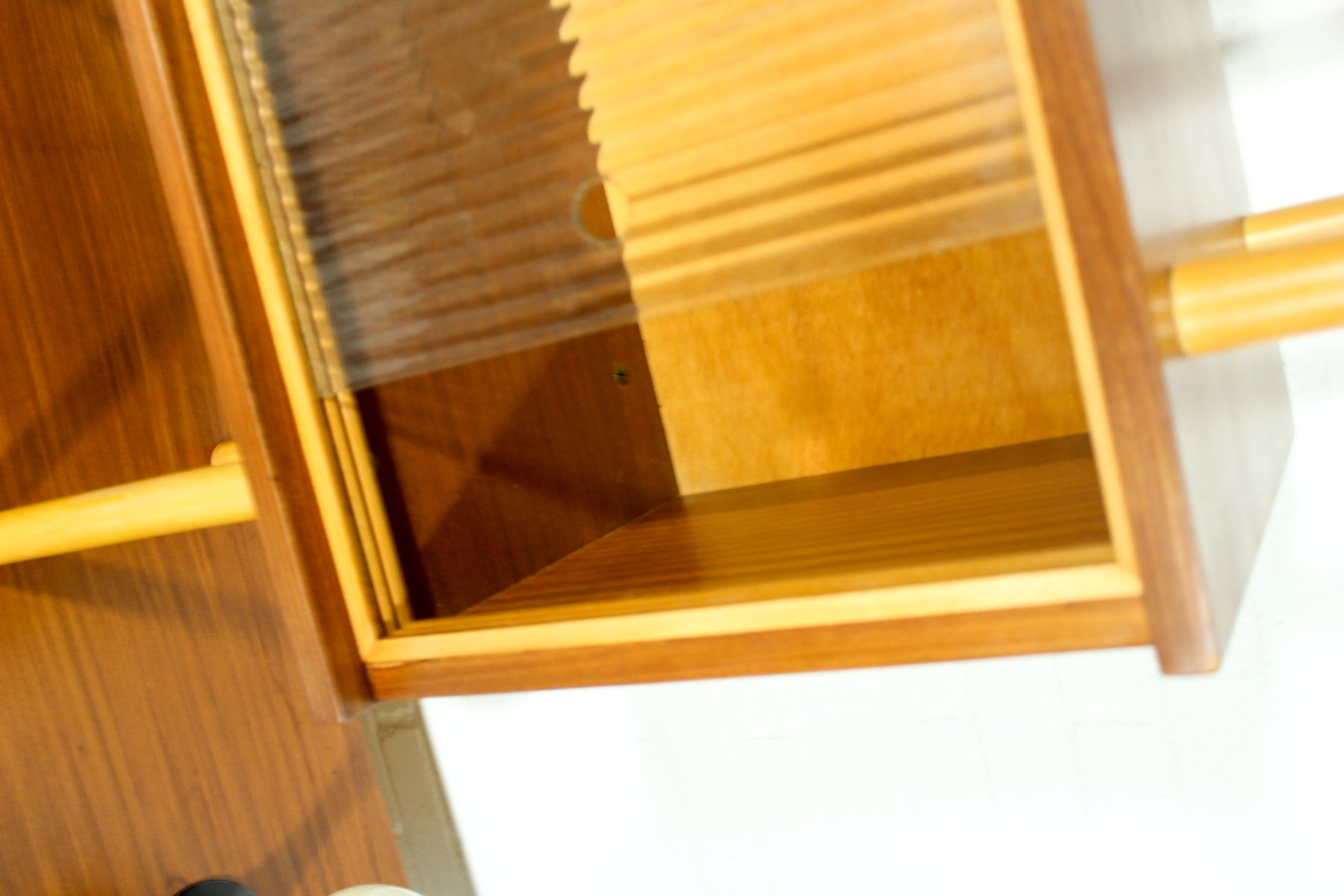 vintage dutch stokkenkast lowboard with shelving unit for. Black Bedroom Furniture Sets. Home Design Ideas