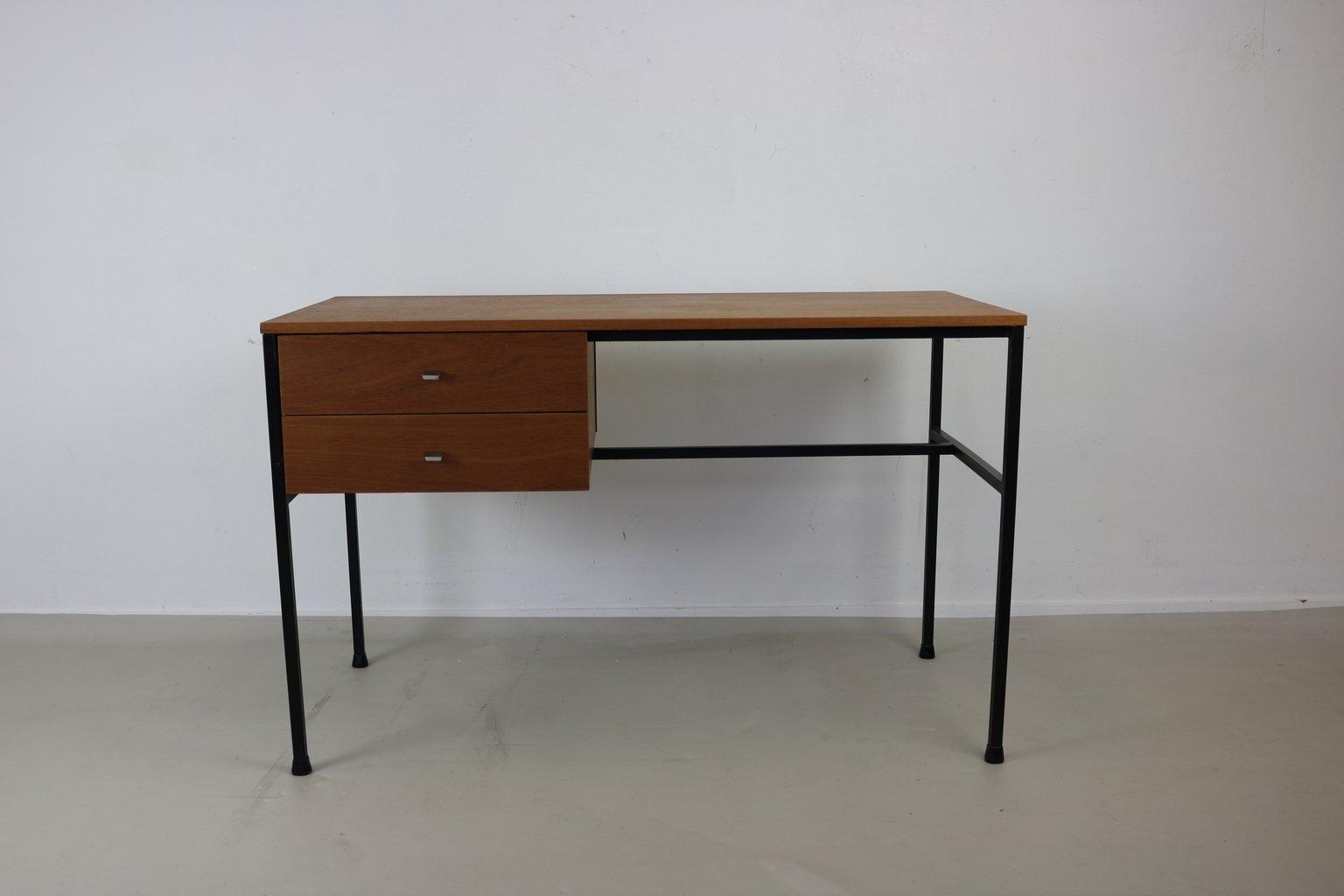schreibtisch mit zwei schubladen von pierre guariche f r meurop belgium 1965 bei pamono kaufen. Black Bedroom Furniture Sets. Home Design Ideas