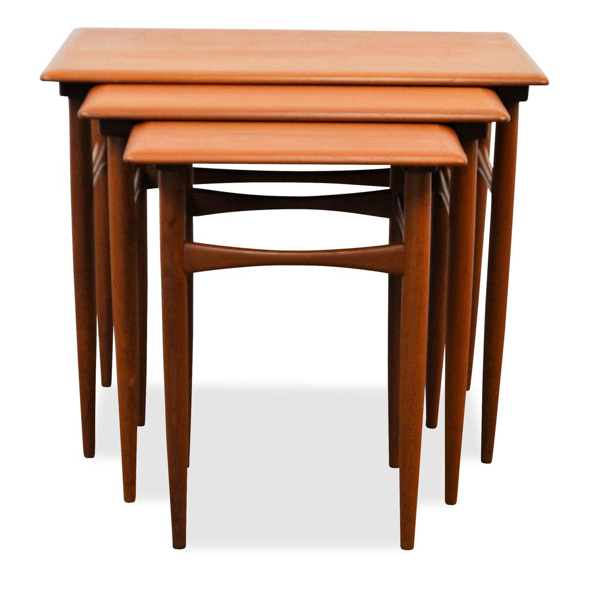 tables gigognes vintage par kai kristiansen pour skovmand andersen en vente sur pamono. Black Bedroom Furniture Sets. Home Design Ideas