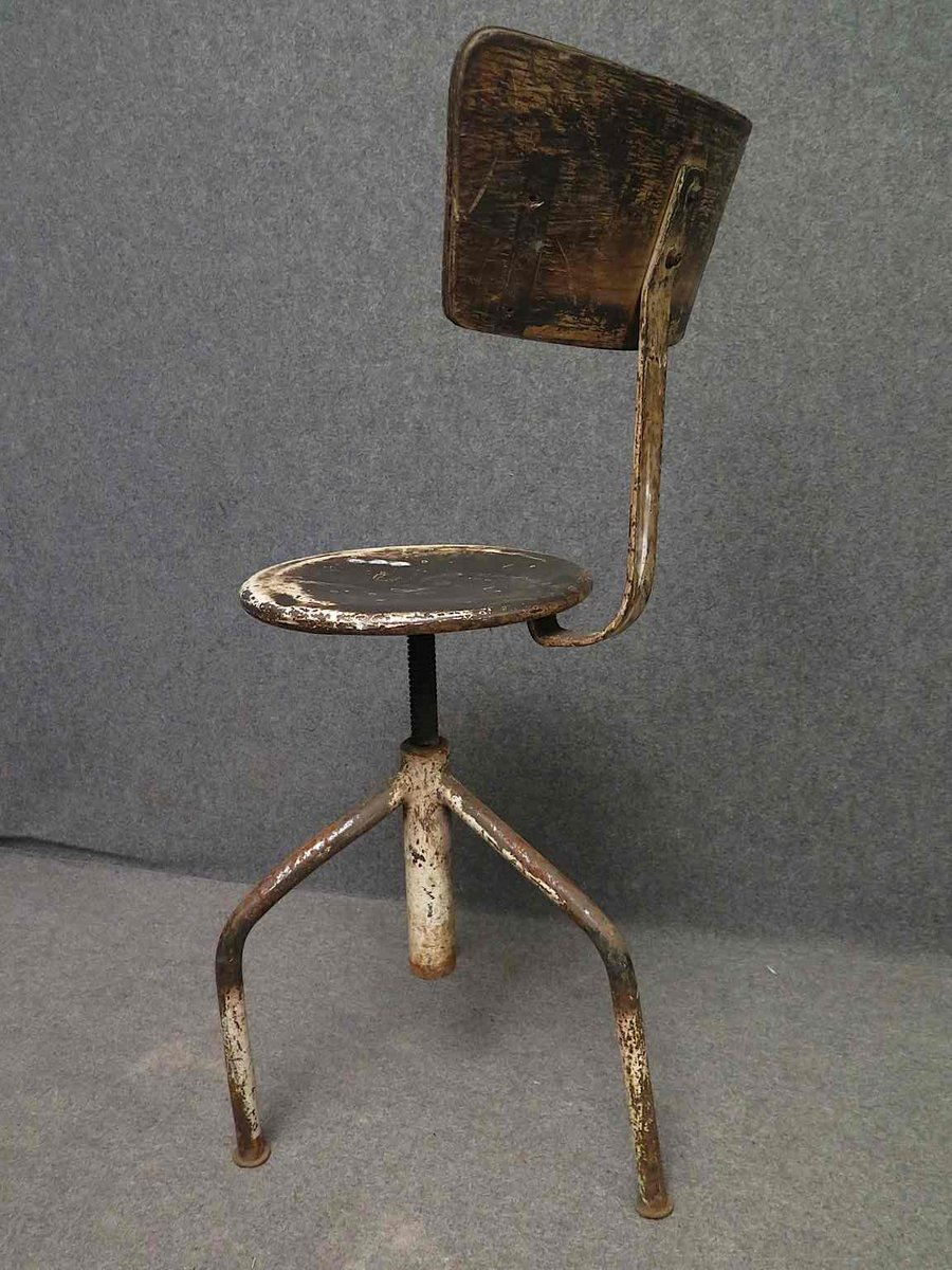 italienischer industrieller vintage stuhl 1960er bei. Black Bedroom Furniture Sets. Home Design Ideas
