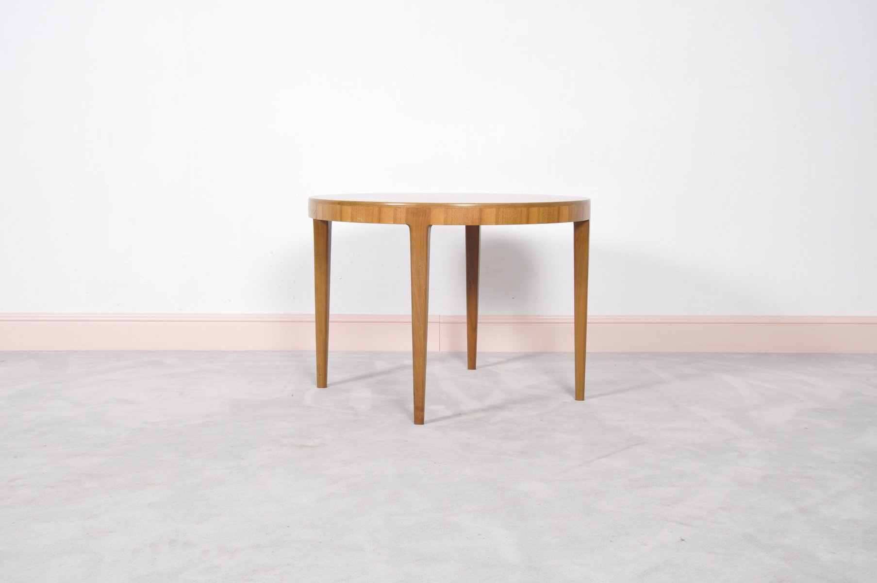 Mid Century Round Danish Teak Coffee Table 1960s for sale at Pamono