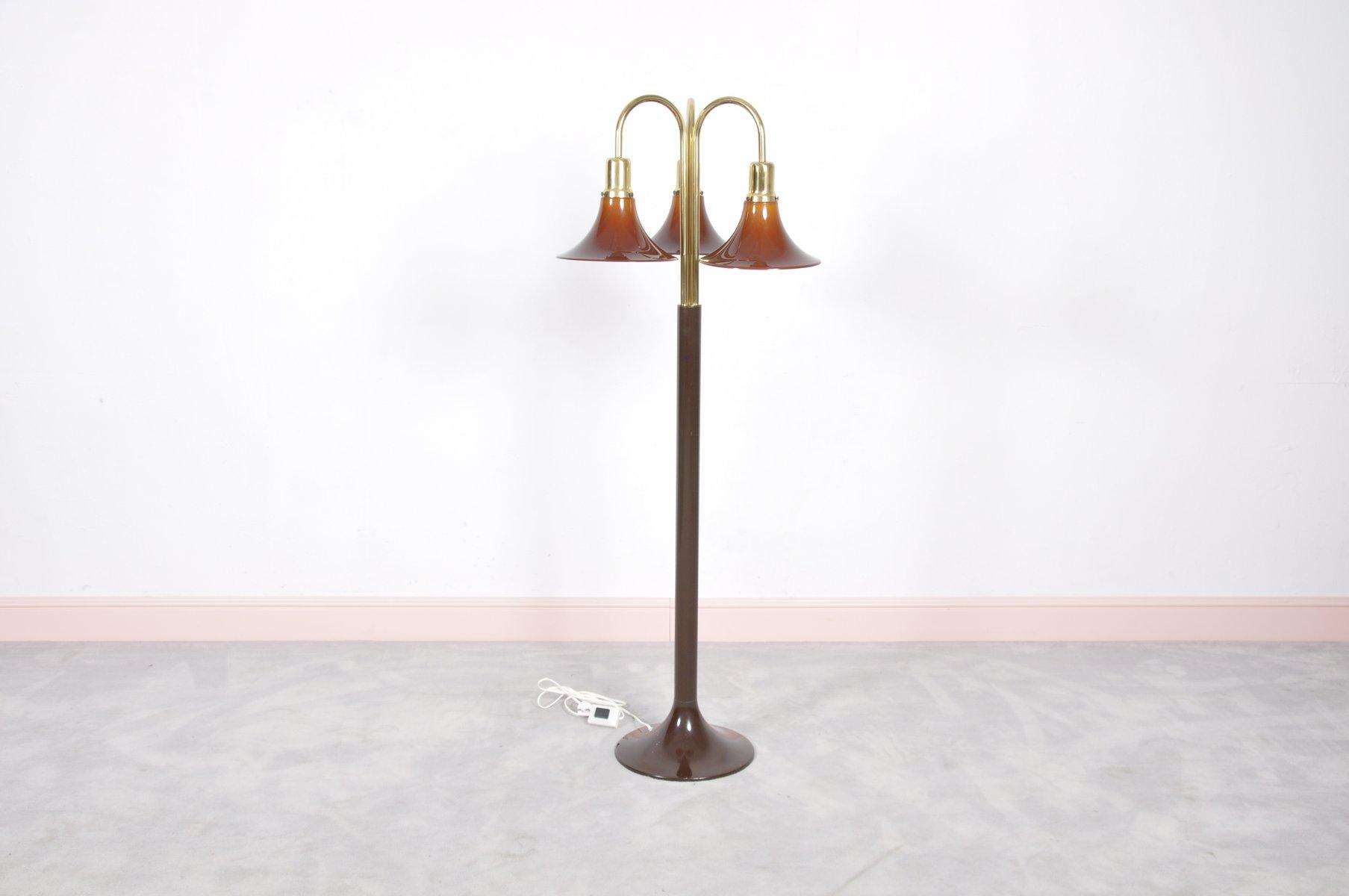 Vintage Italian Triple Tulip Arm Floor Lamp
