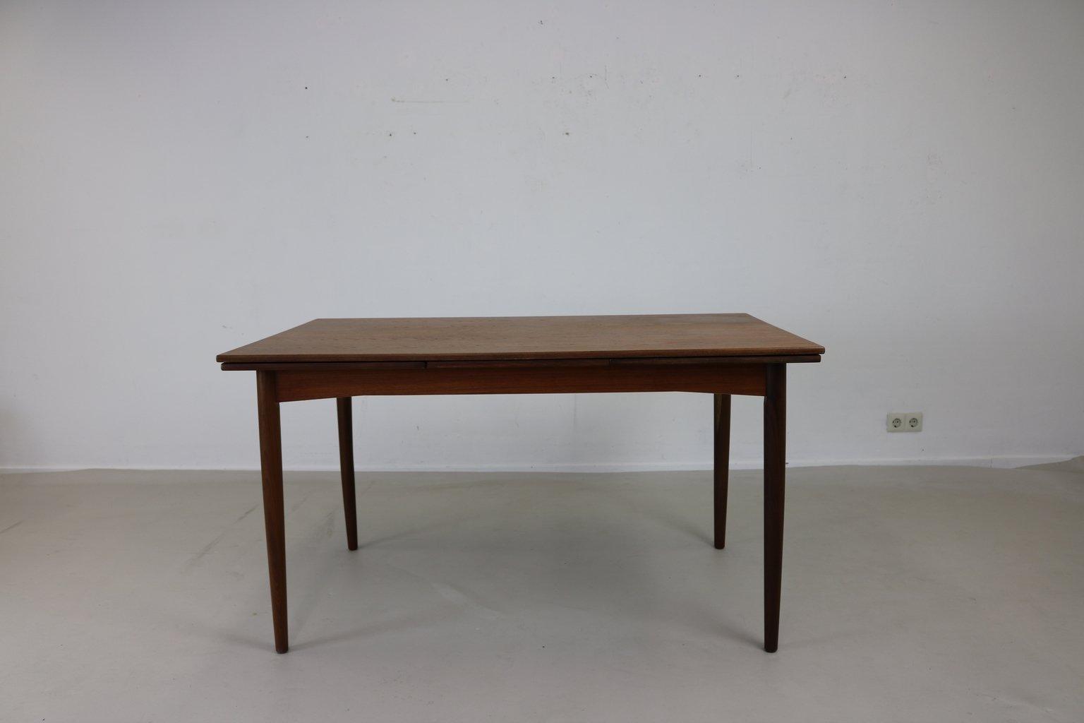 Table de salle manger en teck danemark 1965 en vente for Salle a manger teck