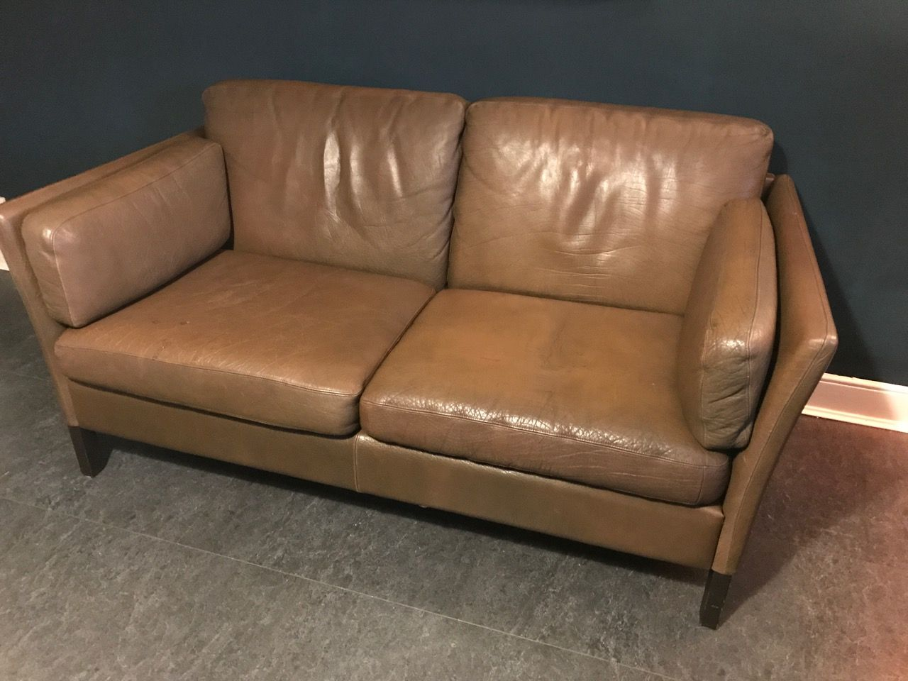vintage danish brown leather sofa by georg thams for vejen