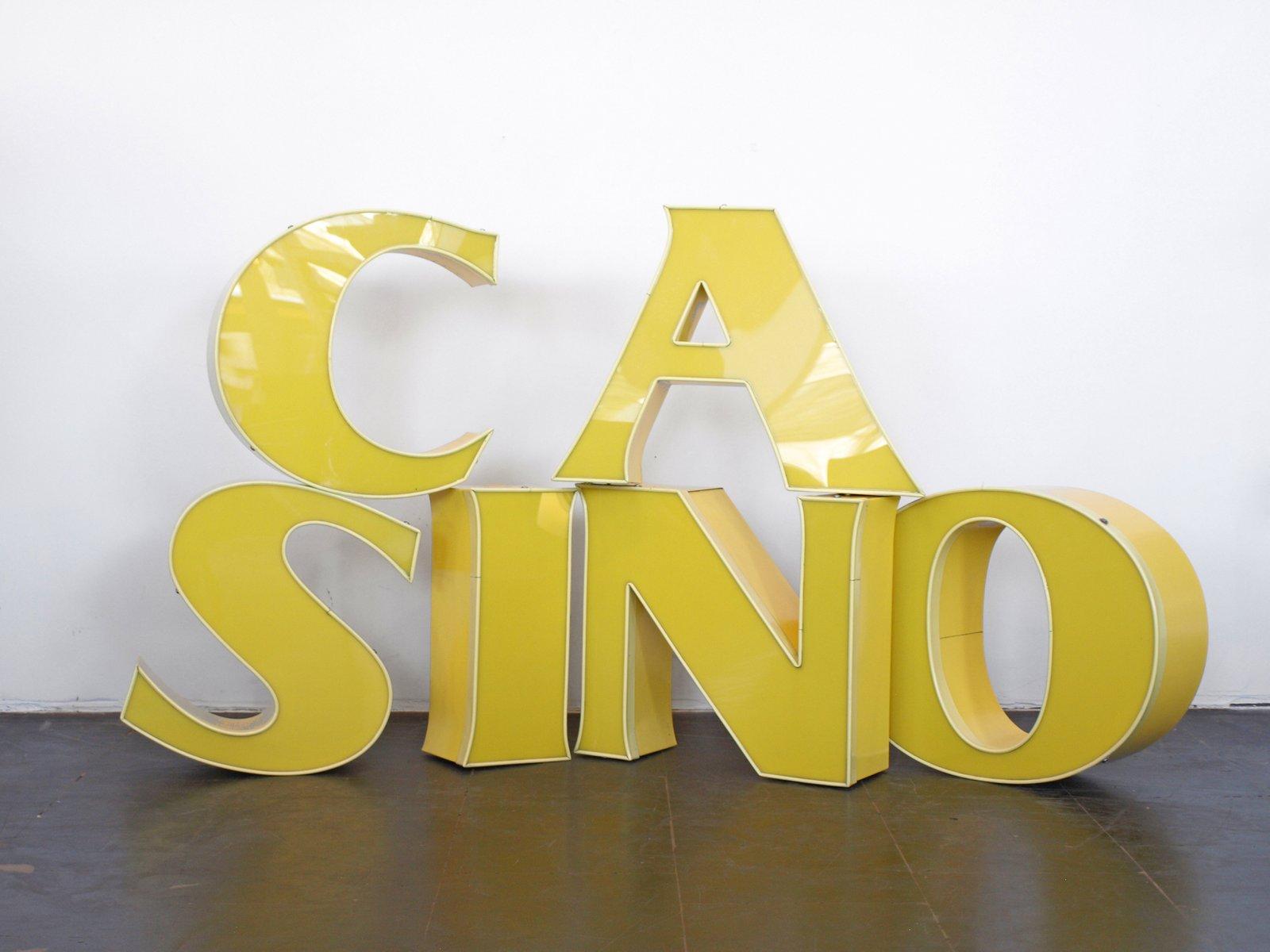 Lettre i lumineuse vintage jaune en vente sur pamono - Lettre lumineuse vintage ...