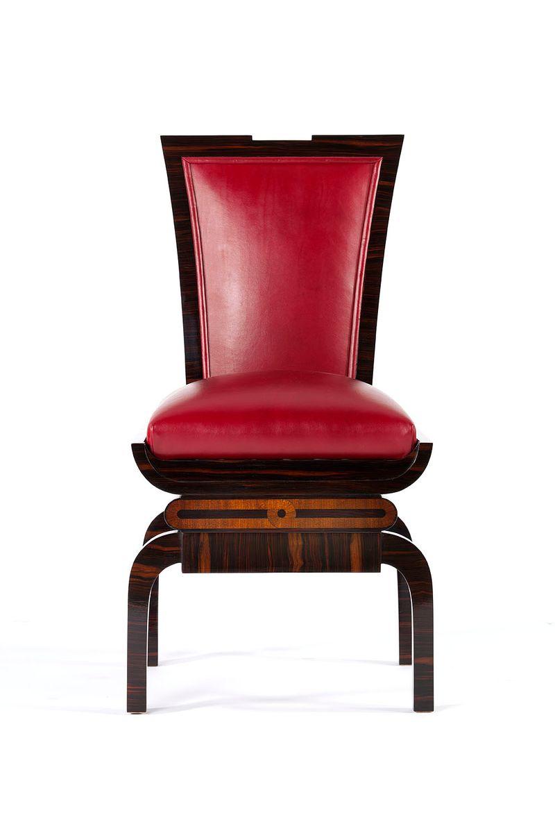 Chaises d appoint art deco set de 4 en vente sur pamono for Chaise d appoint
