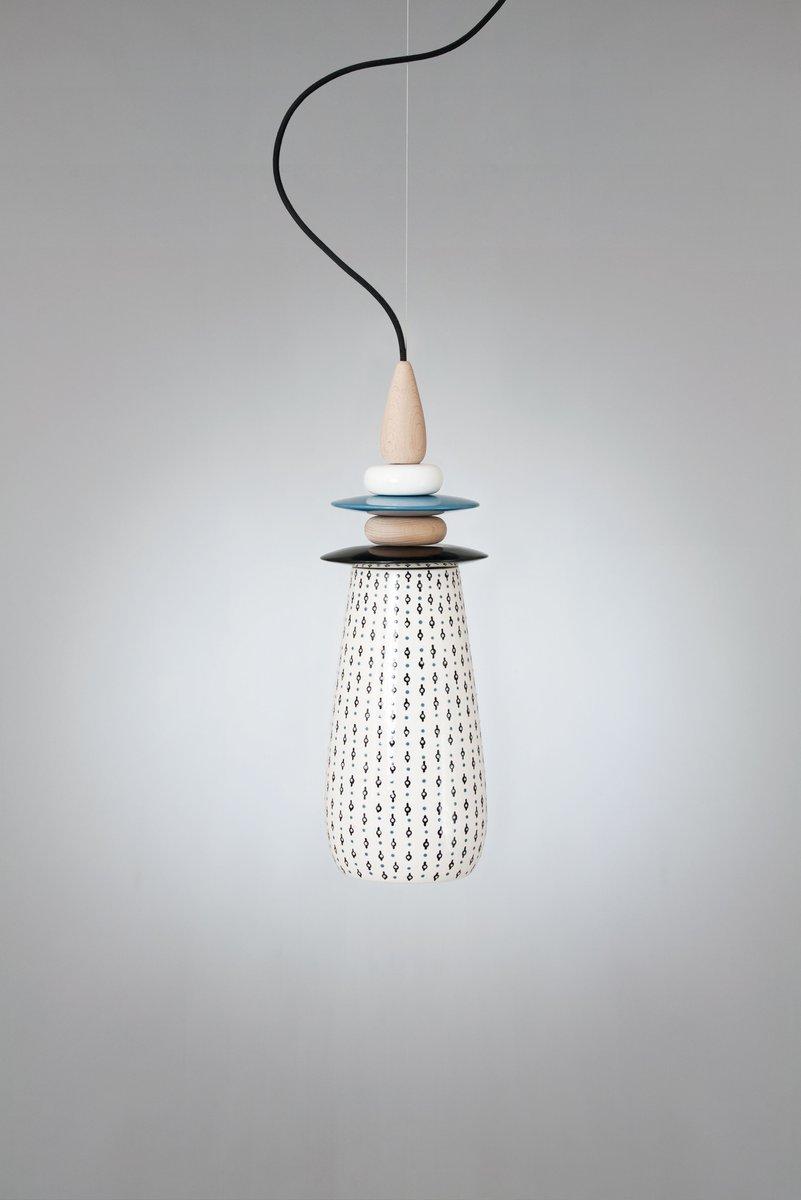 Petite Lampe Forbidden Fruit en Céramique Blanche par Glimpt pour ...